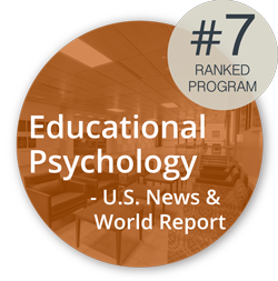 Logo: Ranked 7th by US News and World Report in Educational Psychology