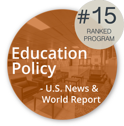 Logo: Ranked 15th by US News and World Report in Education Policy
