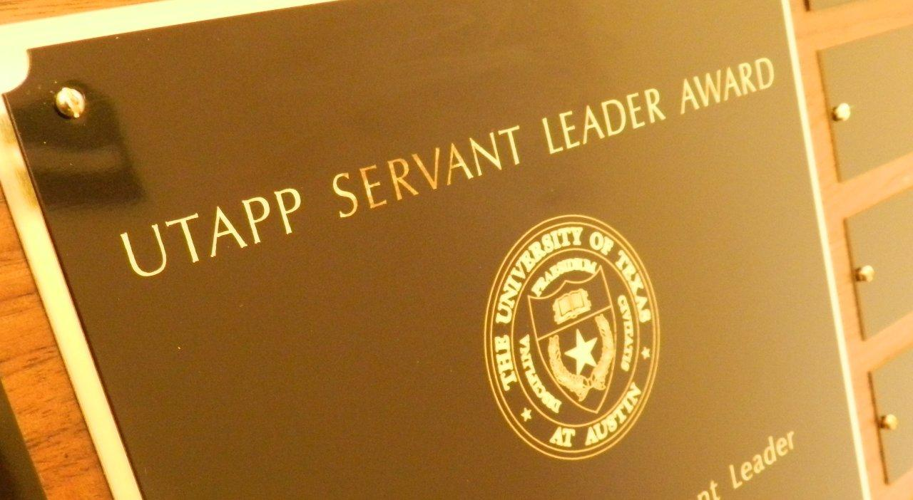 Photo of Leadership Award Plaque