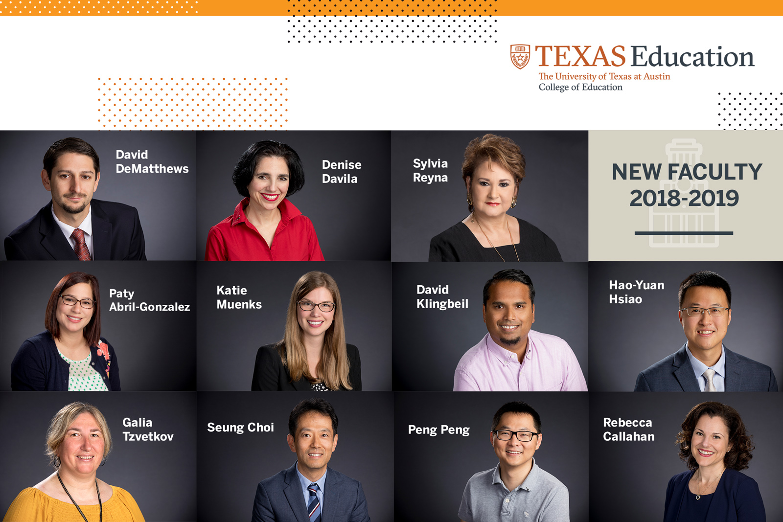 new faculty for 2018