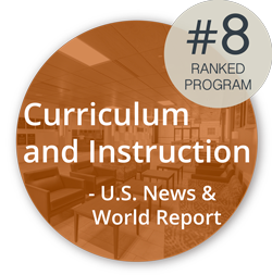 Logo: Ranked 8th by US News and World Report in Curriculum and Instruction