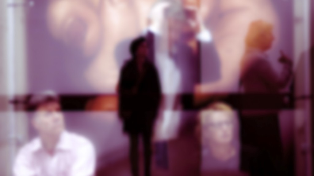 Blurred photo of people standing in isolation