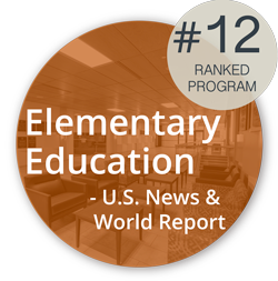 Logo: Ranked 12th by US News and World Report in Elementary Education