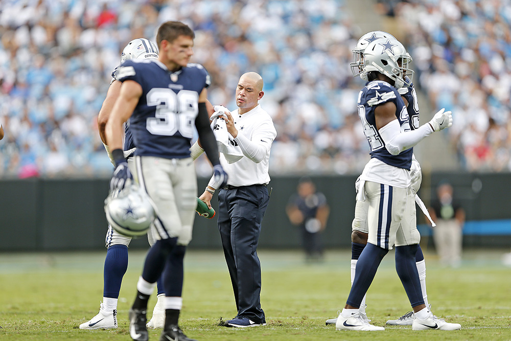 Photo of Hanson Yang, Athletic Trainer for the Dallas Cowboys and Education Alumnus