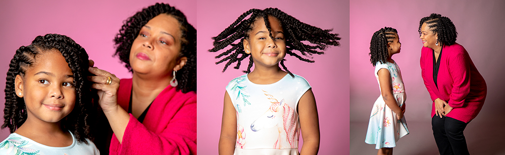 Triptych of Keffrelyn Brown and her daughter, Kythe