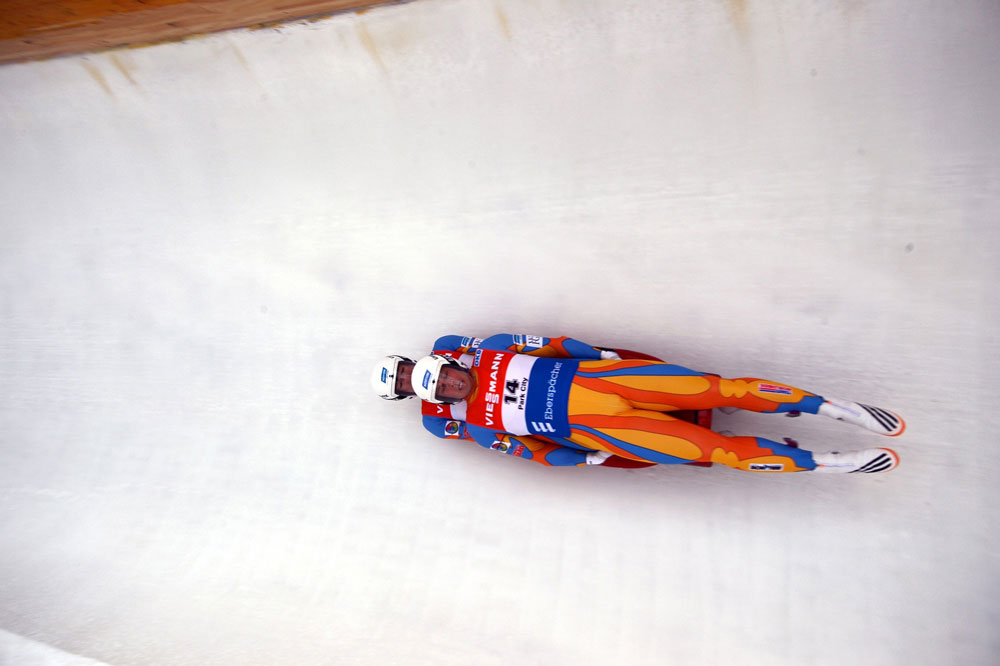 Photo of the Olympic luge team