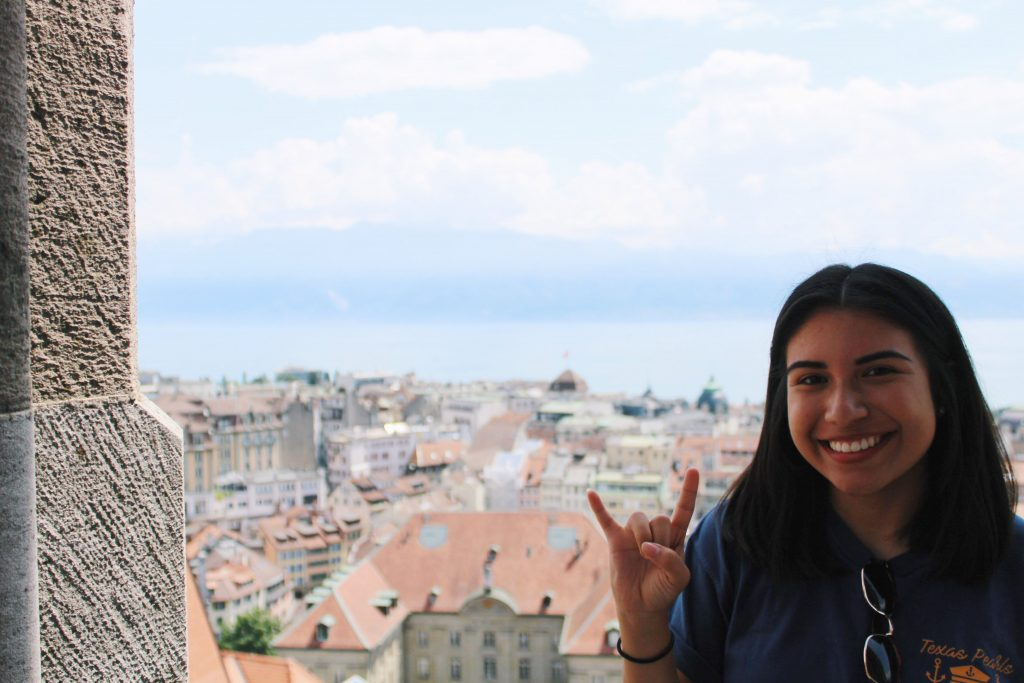 Photo of Sarah Chavez, study abroad student in Lausanne, Switzerland.