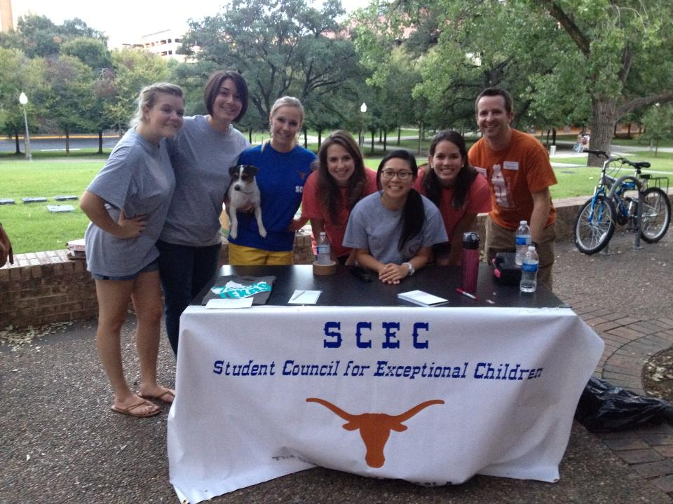 Photo of 7 SCEC members and a dog