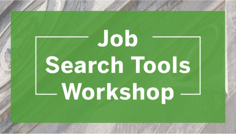 Wordmark: Job Search Tools Workshop graphic