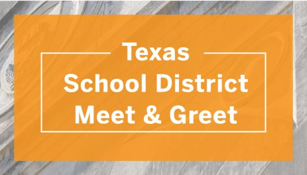 Wordmark: Texas School District Meet and Greet