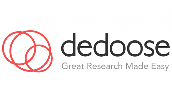 """Logo for Dedoose, """"Great Research Made Easy"""""""