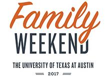 Logo for Family Weekend 2017, at The University of Texas at Austin