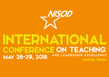 Logo for NISOD International Conference on Teaching