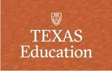Logo for Texas Education with the University shield