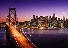 Photo of the San Francisco skyline at night