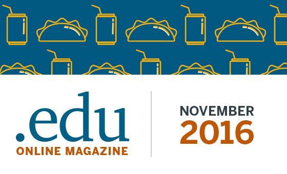 .edu magazine banner for November 2016 issue