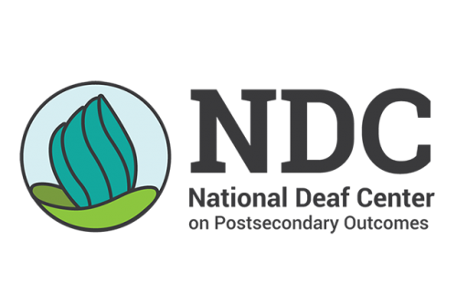 Logo for the National Deaf Center on Postsecondary Outcomes