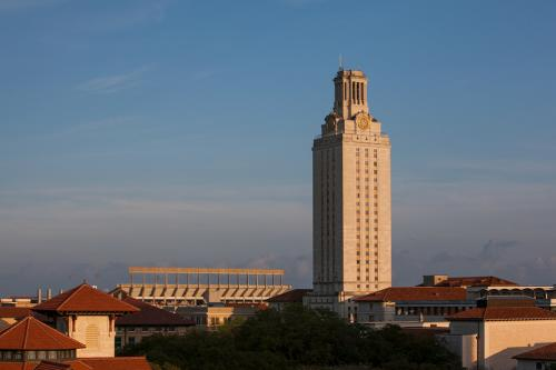Photo of the University of Texas at Austin skyline featuring the iconic tower.