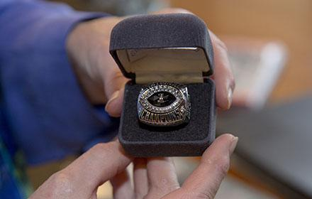 Photo of DKR's championship ring