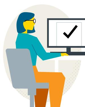 Illustration of a student filling out an application