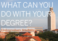 Undergraduate brochure cover: What can you do with your degree?