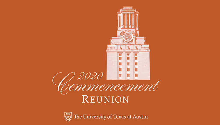 Logo for the University of Texas at Austin 2020 commencement reunion