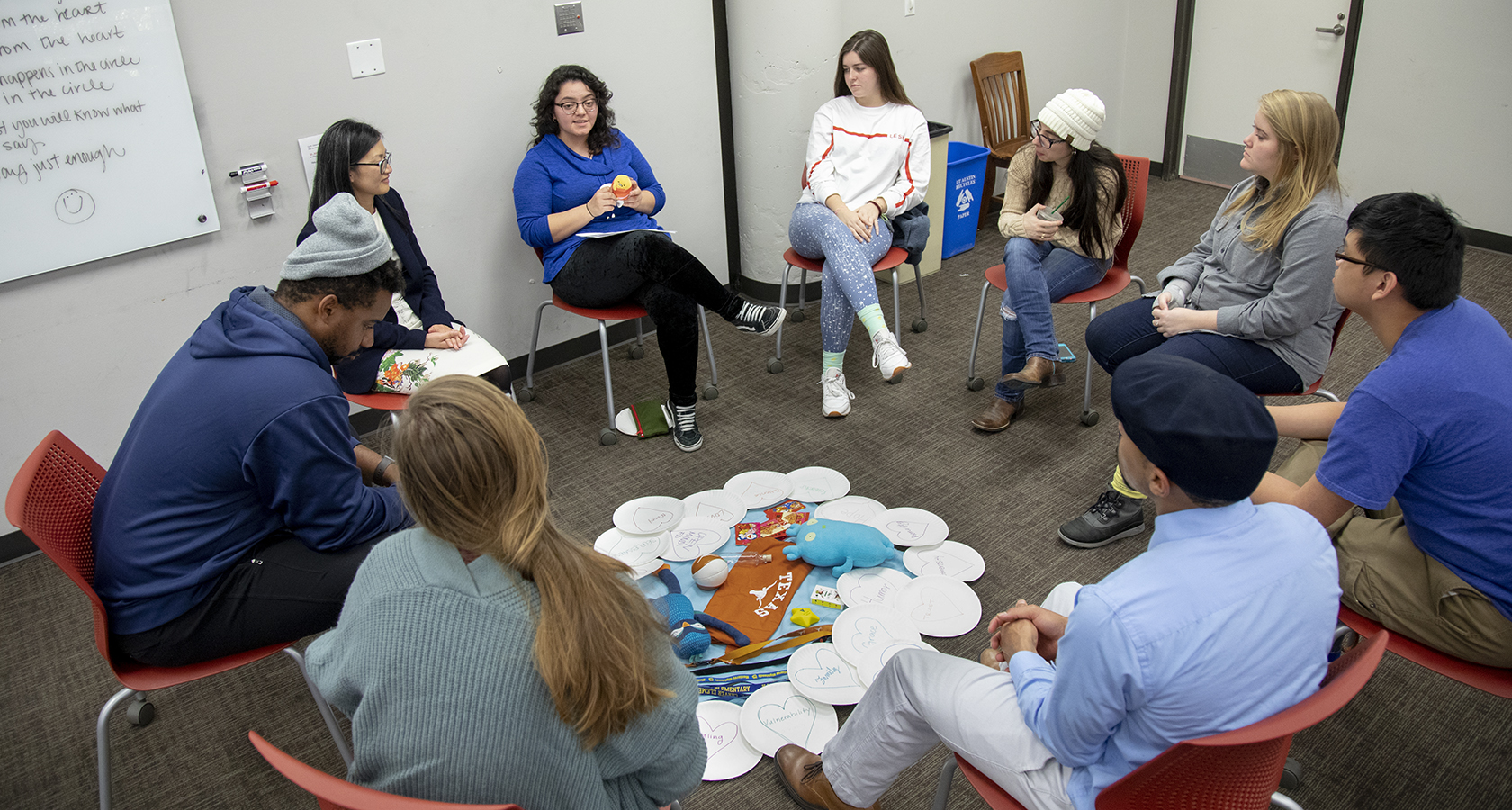 Students participate in Molly Wiebe's Restorative Practices class.